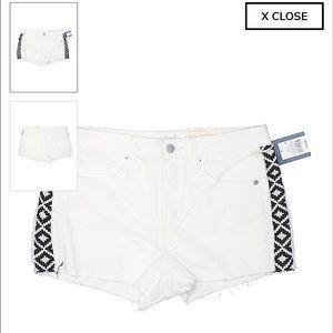 Side patterned Denim Shorts